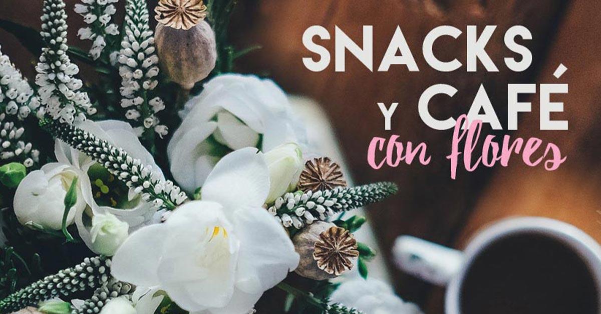 Curso de snacks y café con flores
