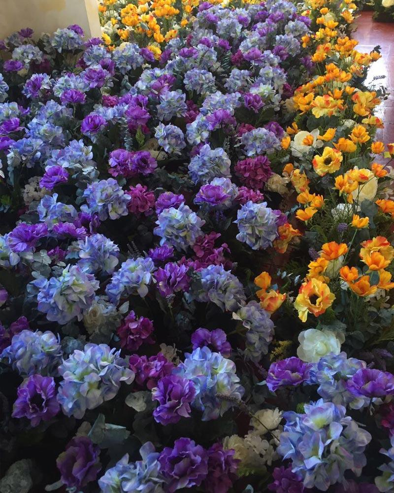 Flores artificiales para pascua