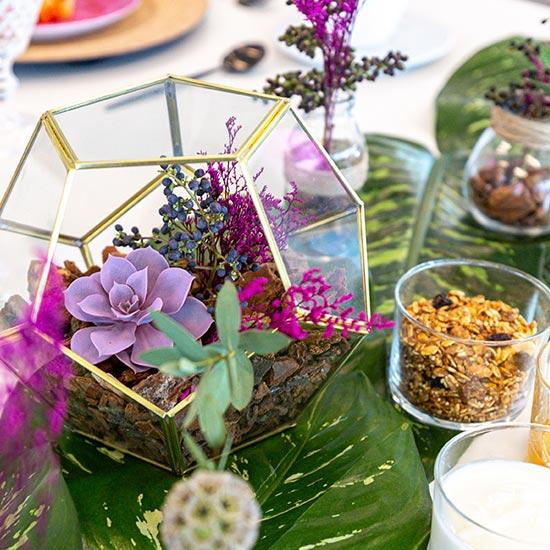Terrario para desayuno de Facebook AdWeek Latam