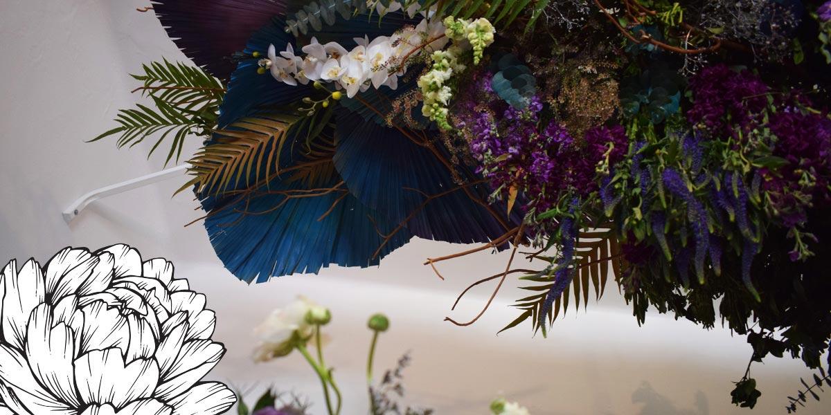 Techo con flores de colores